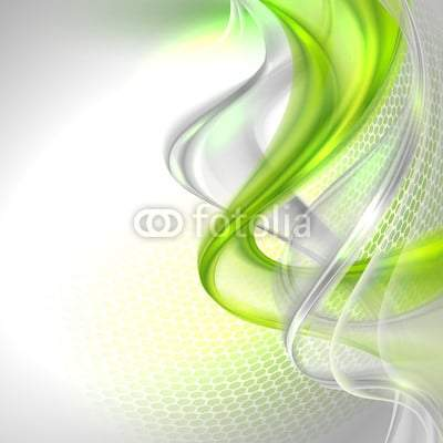 Abstract gray and green waving background