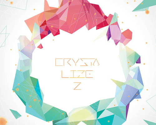 crystallized abstract vector