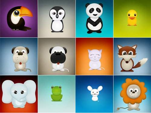 Cute Animal Vector Icons