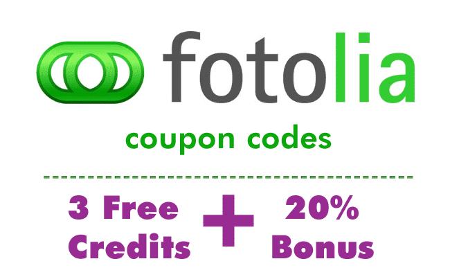 Fotolia-3-Free-Credits plus 20% bonus