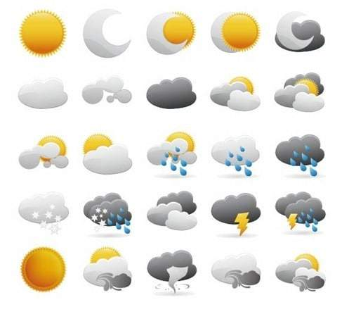 Weather Icons Vector Graphic