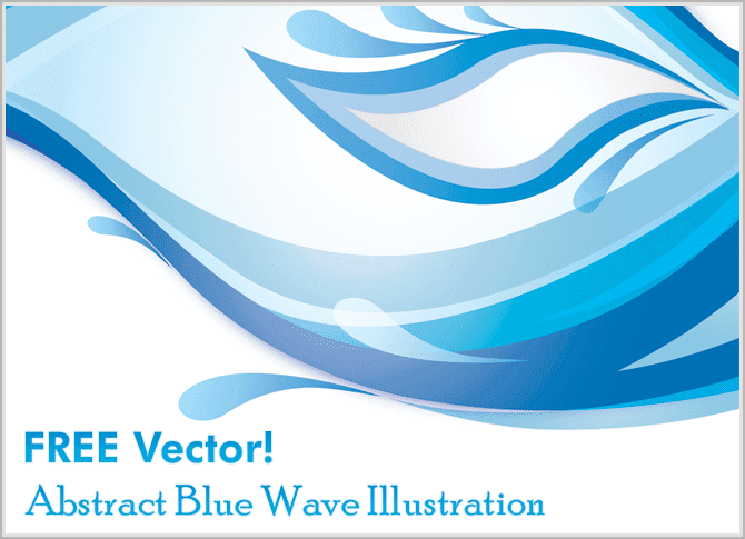 free-vectors---Abstract-Blue-Wave-Illustration