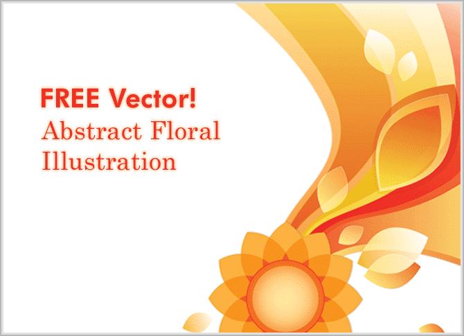 free-vectors-Abstract Floral Illustration