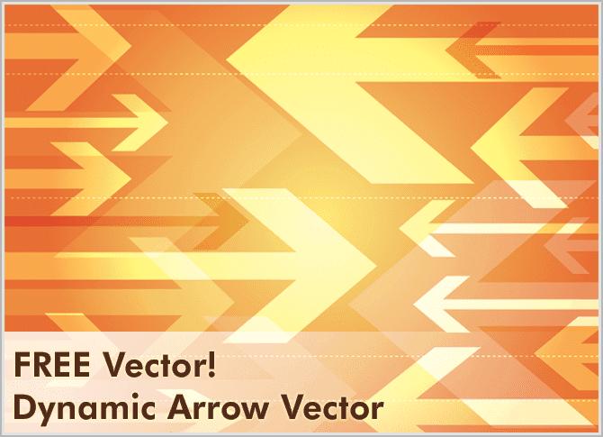 free-vectors-Dynamic Arrow Vector
