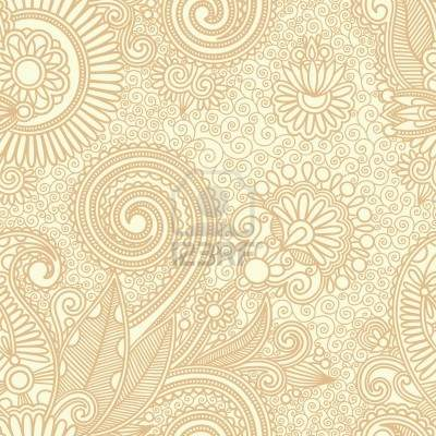 Vintage Paisley Seamless Vector Pattern Set