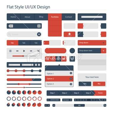 Flat style UIUX design