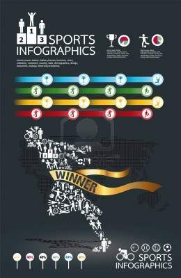 Illustration - infographic spots icons set