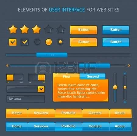 Illustration - webpage's elements