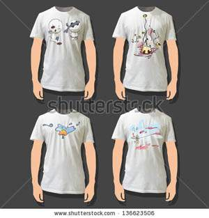Cute world printed on white shirt