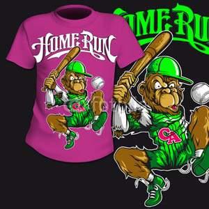 T-Shirt Print Comic Baseball