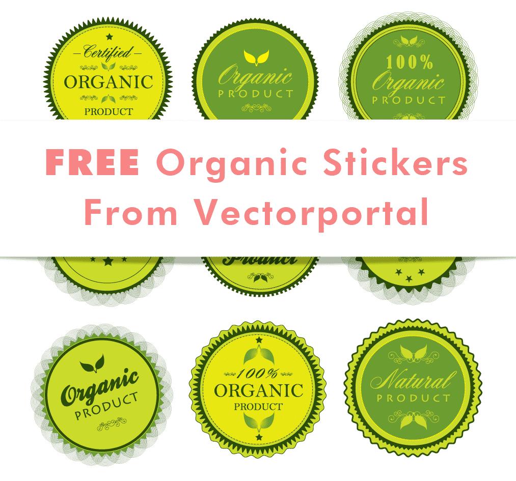 free organic stickers