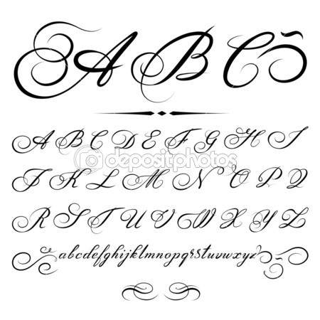 Alphabet based on calligraphy