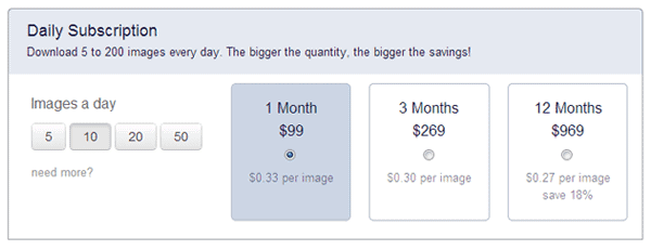 Bigstock review Subscription