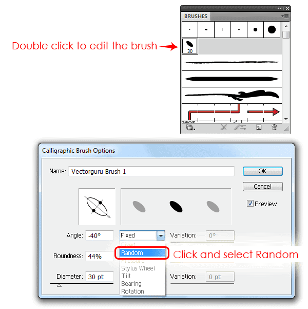Random option in calligraphy-brush-settings