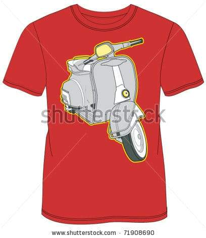 retro motorcyle design t-shirt