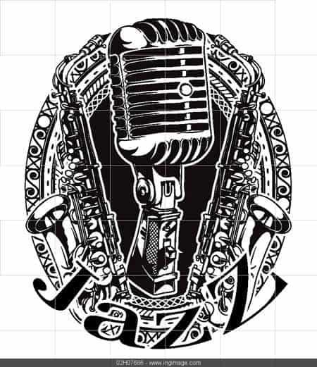 vector music frame tshirt design