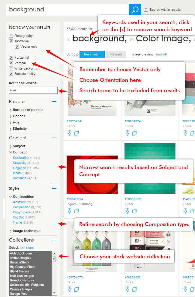 search options for Thinkstock