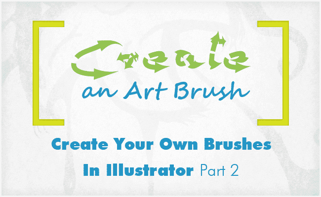 How to create art brushes banner