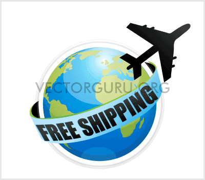 Free Shipping – Globe and Plane