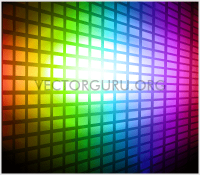 Rainbow Colored Party Background