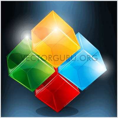 Shiny Transparent Cubes