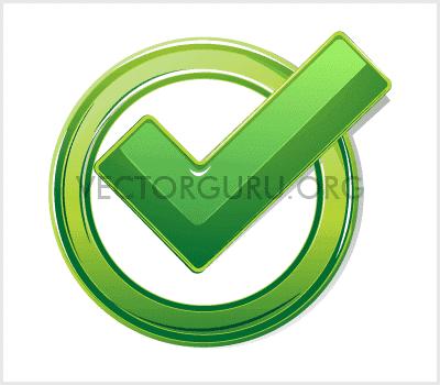 Green Tick Mark Vector
