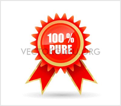100% Pure Badge