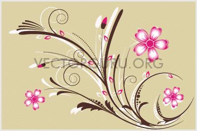 Retro Floral Artwork 1