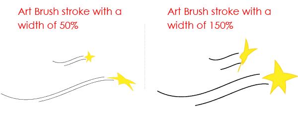 Width Art Brush Options