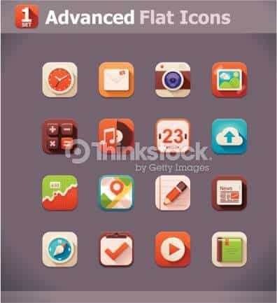 Advance Flat Icons