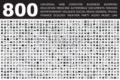 Icons Set for Web buttons, Internet & Web