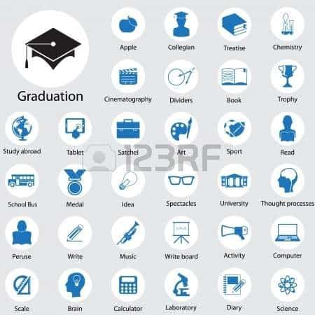 Vector - Education icons set