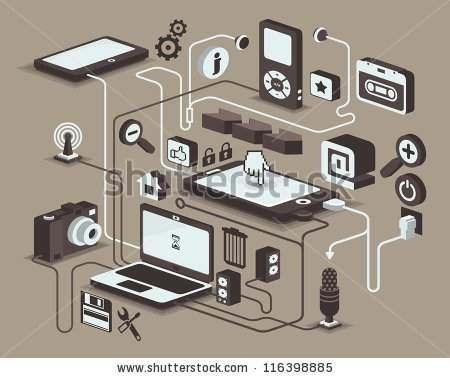 web and social media icons, vector elements