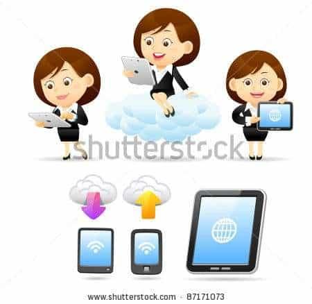 Elegant People Series business women ,smart phone ,Tablet