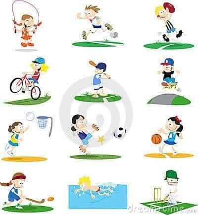 Sporty Cartoon Character Assortment
