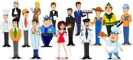 Vector - Cartoon characters of different professions