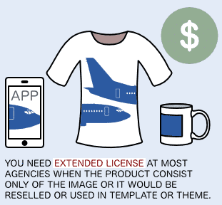 Check beforehand if an Extended-License is needed