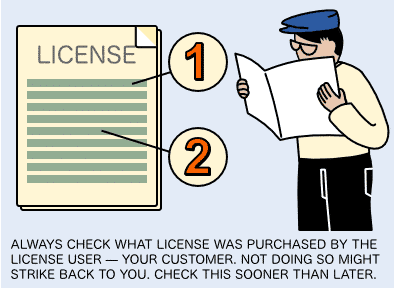 Check the license purchased by you customers and clients