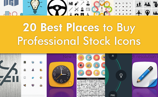 20 Best Places to Buy Professional Stock Icons