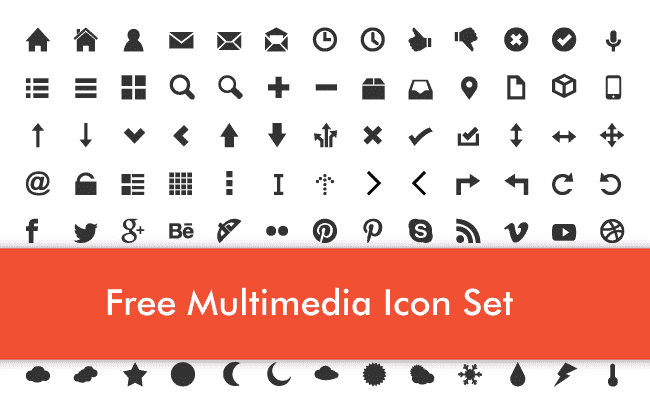 Free Multimedia Icons Set