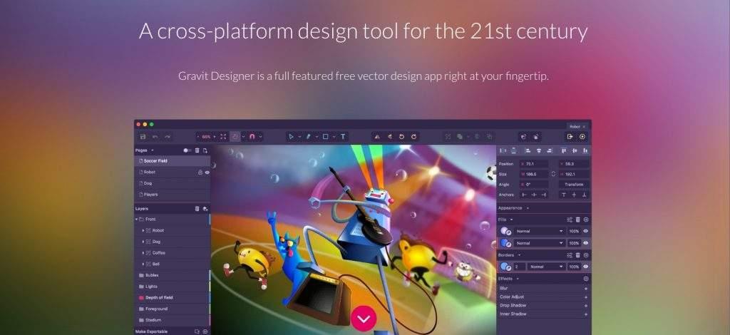 designer.io gravit designer homepage