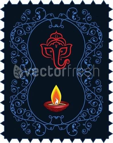 A representation of Gaesha on a deep blue background