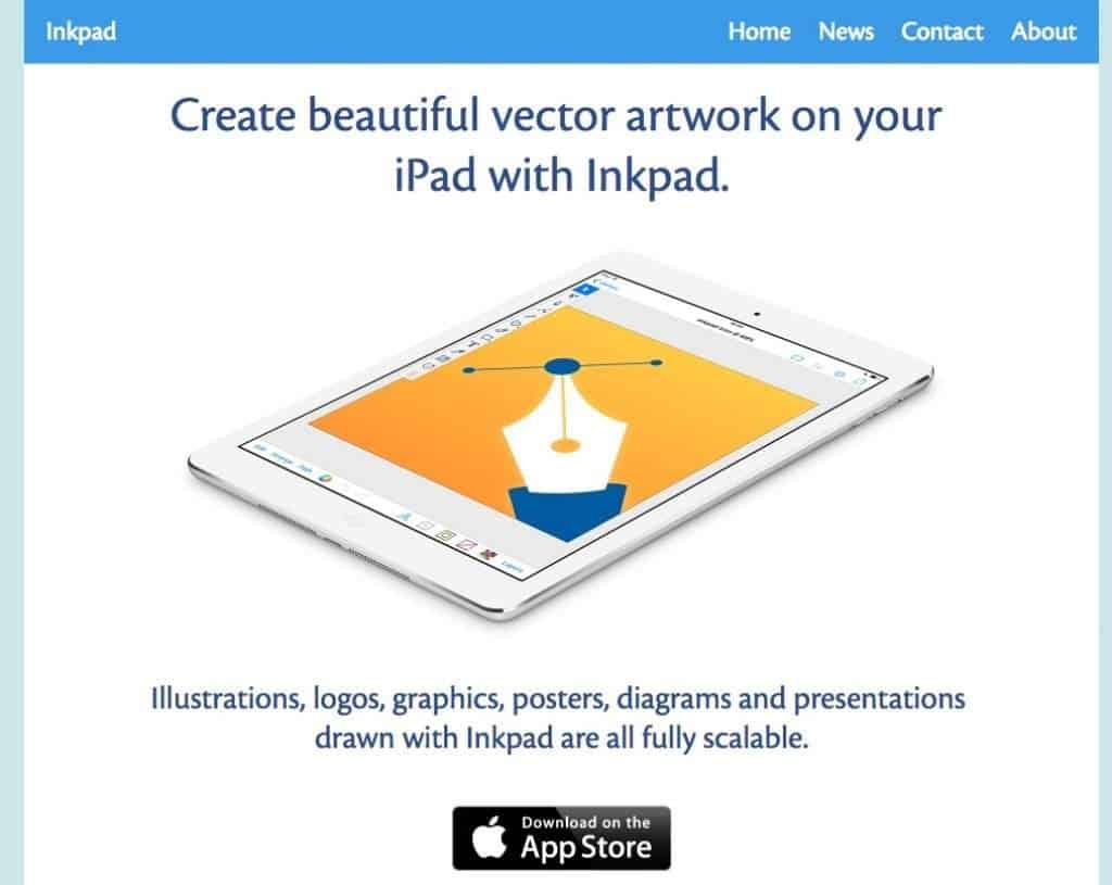 Inkpad Homepage Screenshot